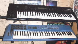 Korg Wavestation EX und Yamaha CS1x